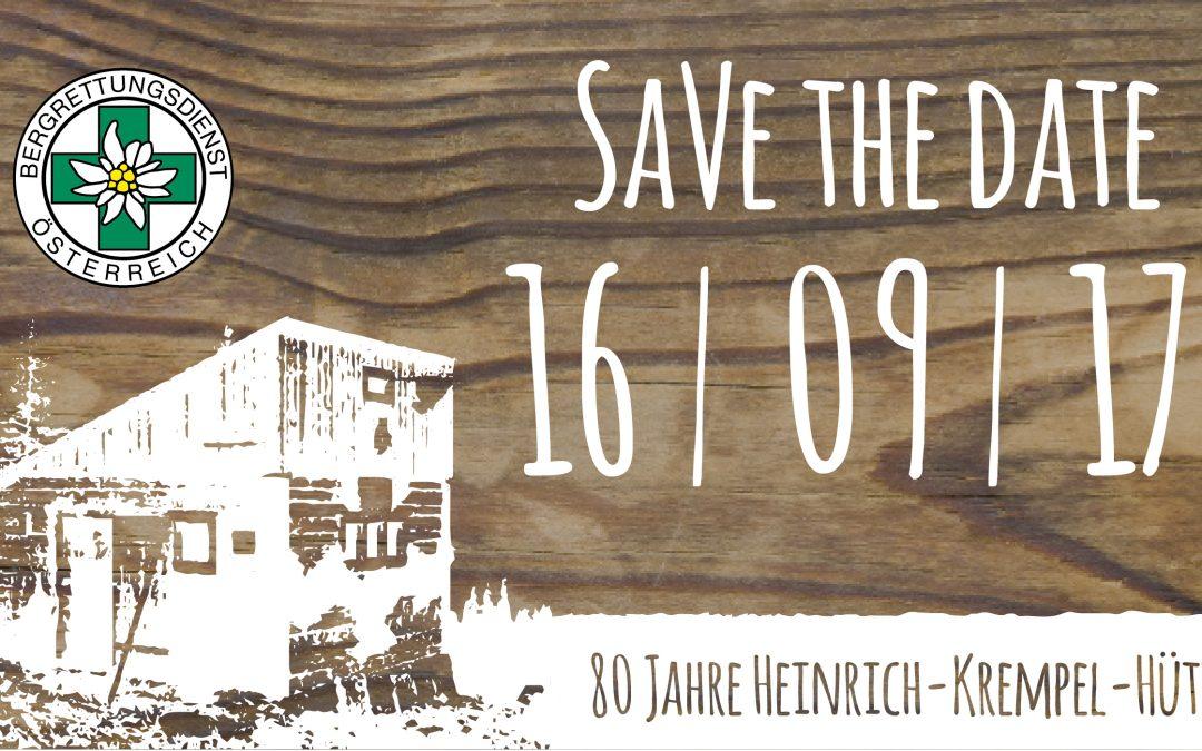 80 Jahre Jubiläum der Heinrich-Krempel-Hütte