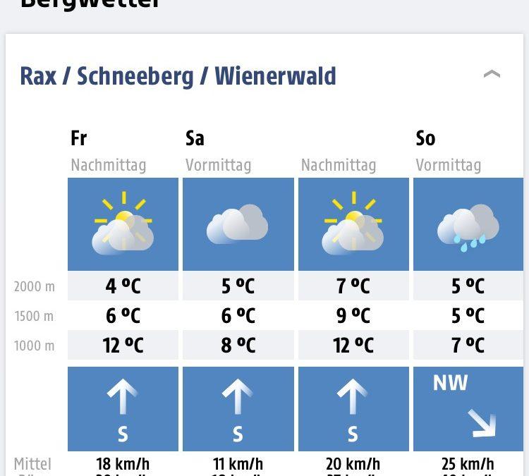 Wetterlage scheint stabil für morgiges Hüttenfest!