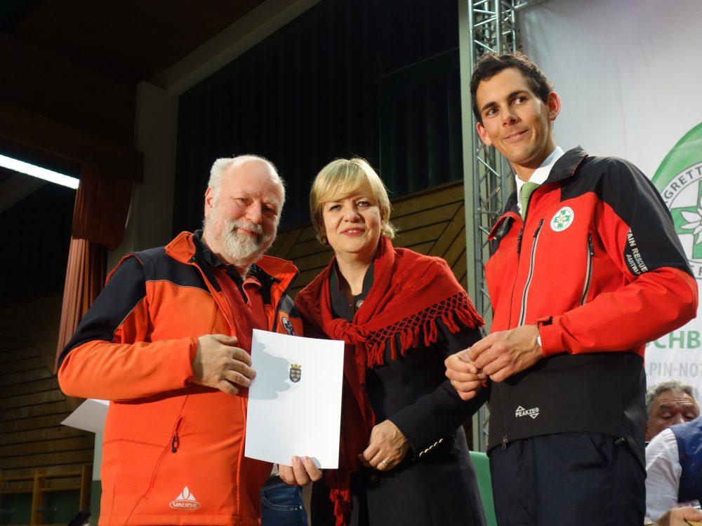 Klaus Brückner am Tag der Bergrettung