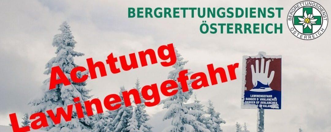BRD Dienst entfällt aufgrund großer Lawinengefahr von 12.-13. Jänner