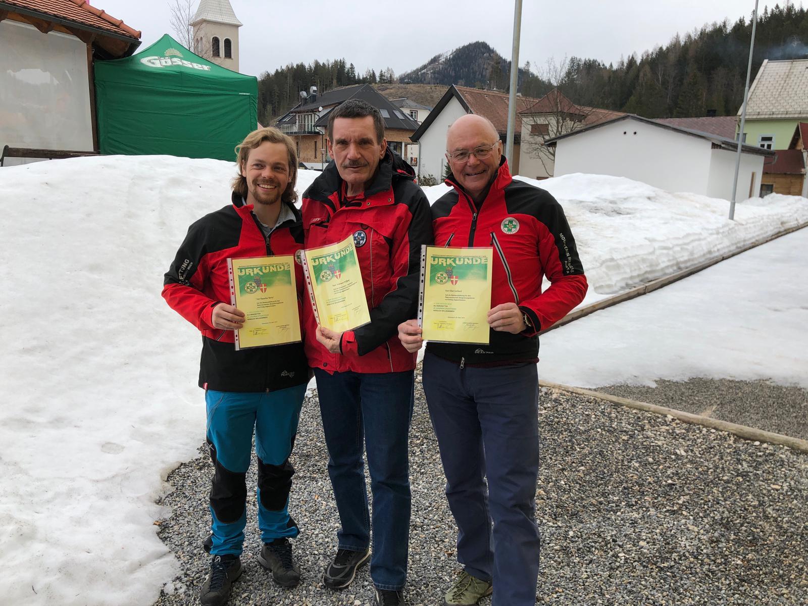 V. l. Bernd, Wolfgang und Gerhard