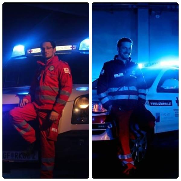 Notfallsanitäter im Bergrettunsdienst