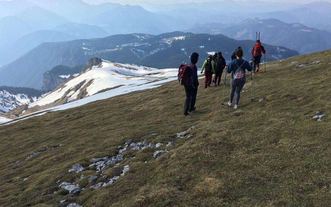 Sechsköpfige Gruppe von Erasmus-Studenten aus Bergnot gerettet