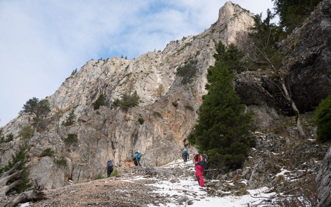 Orientierungsübung am Schneeberg