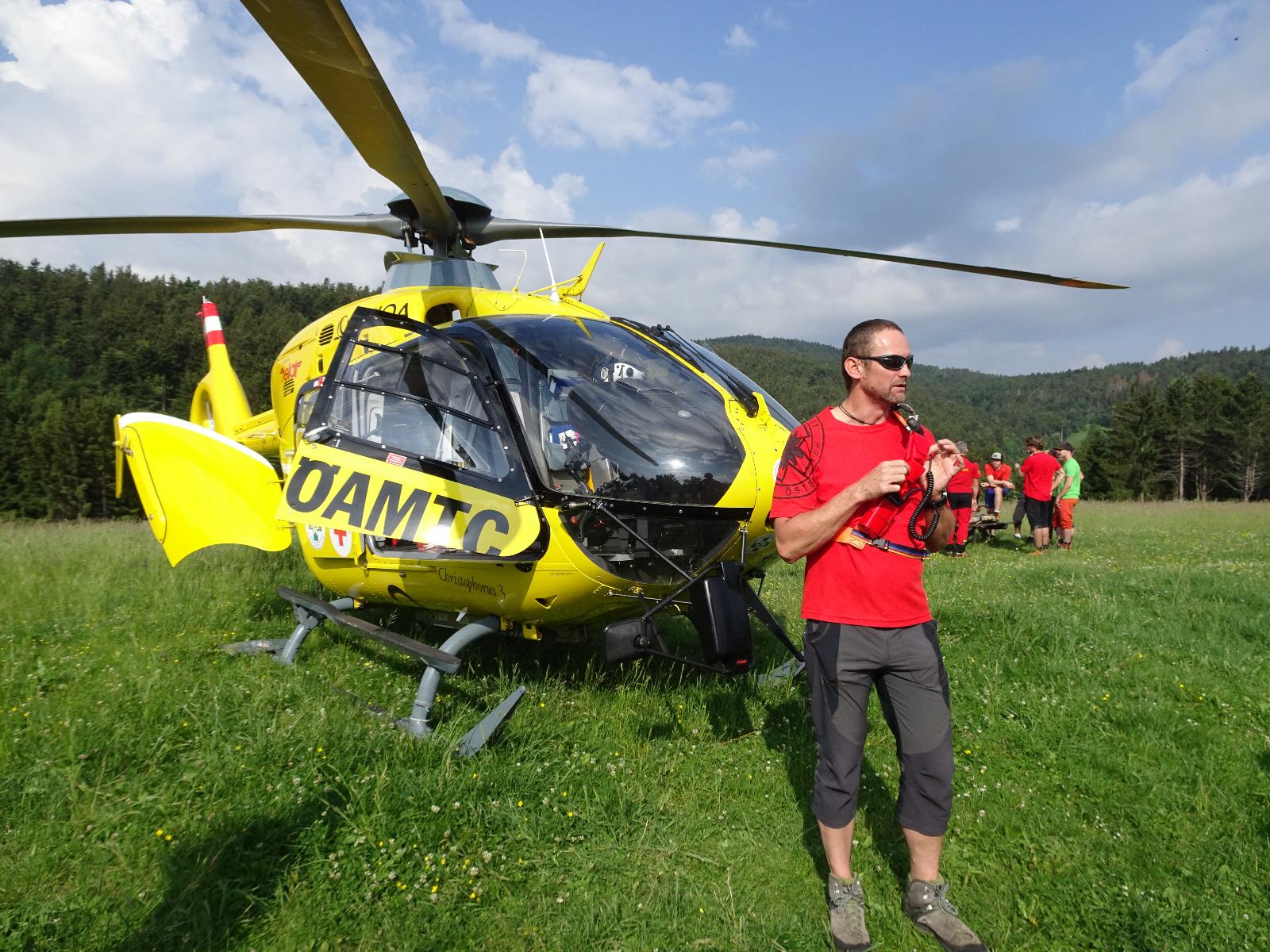 Hubschrauberbesichtigung