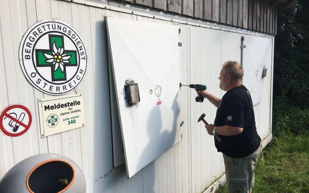 Instandhaltungsarbeiten am Stützpunkt Rosskopfwiese im Wiener Wald